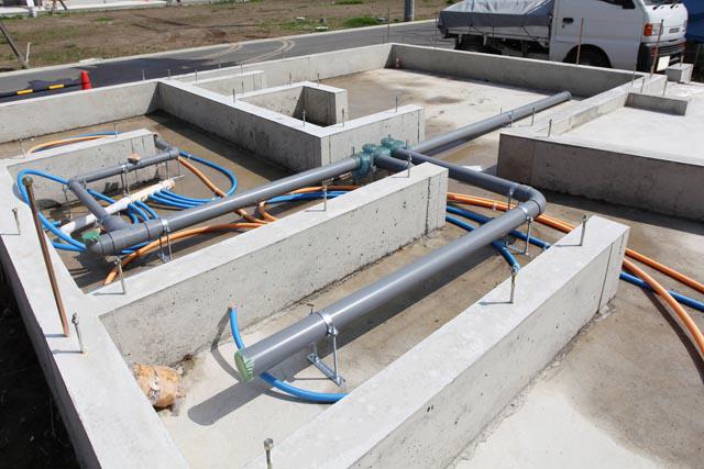 施工実績3_戸建て住宅の給排水管工事
