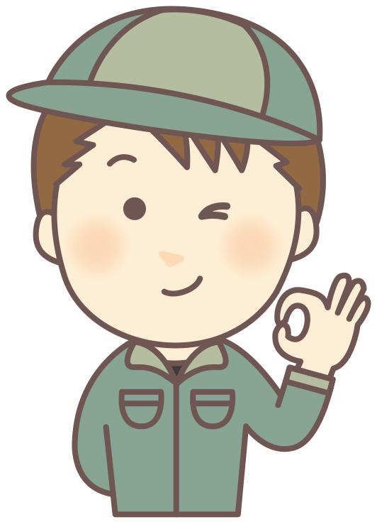 ウェルネット_男_作業服